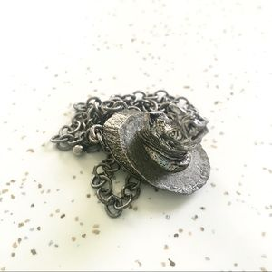 Vintage rhino pendant necklace